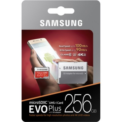Samsung Evo Plus microSDXC 256Gb + SD адаптер (MB-MC256GA)