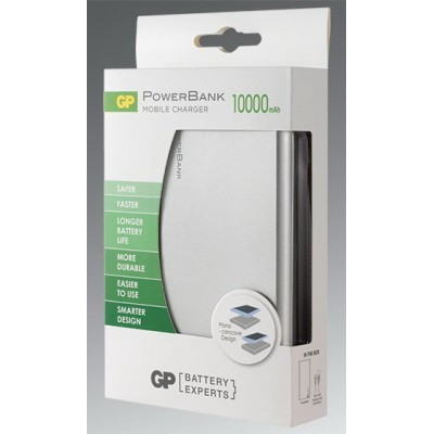 Power Bank GP FP10MSE-2B1 10000 mAh (серебро)
