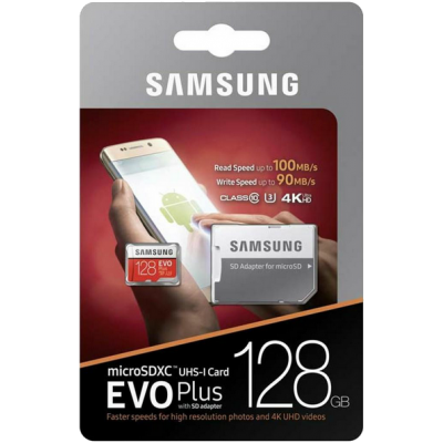 Samsung Evo Plus microSDXC 128Gb + SD адаптер (MB-MC128GA)