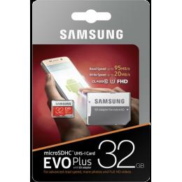 Карта памяти Samsung Evo Plus microSDHC 32Gb Class 10 UHS-I U1 + SD адаптер (MB-MC32GA)