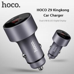 Автомобильное зарядное устройство HOCO Z9 с цифровым дисплеем
