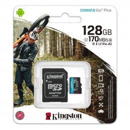 Карта памяти Kingston Canvas Go! Plus microSD 128GB