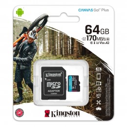 Карта памяти Kingston Canvas Go! Plus microSD 64GB
