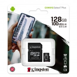 Карта памяти Kingston Canvas Select Plus microSD 128GB