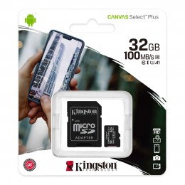 Карта памяти Kingston Canvas Select Plus microSD 32GB